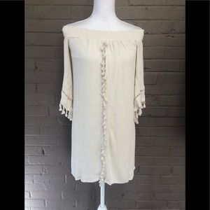 Xhilaration Beige Bohemian Dress M